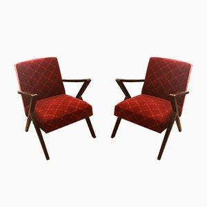 Nordische Vintage Sessel mit Armlehnen, 2er Set