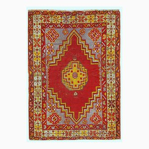 Antique Handmade Turkish Anatolian Rug, 1920s