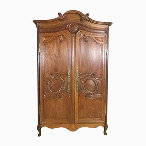 19-Century Norman Wardrobe in Blond Oak