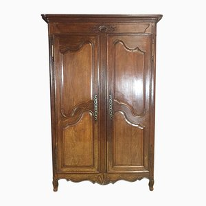 18th-Century Louis XV Wardrobe in Oak