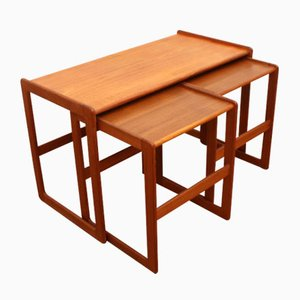 Vintage Danish Teak Nesting Tables by Arne Hovmand-Olsen for Mogens Kold