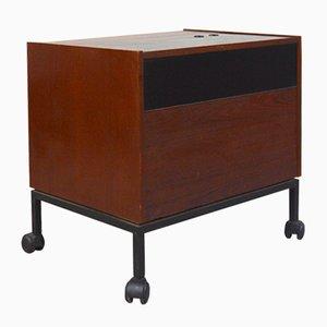 Teak Veneer Bar Cabinet on Wheels from Jese Möbel, 1960s