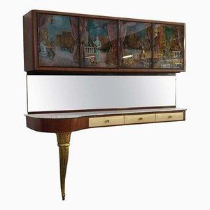 Consola italiana Mid-Century, años 50
