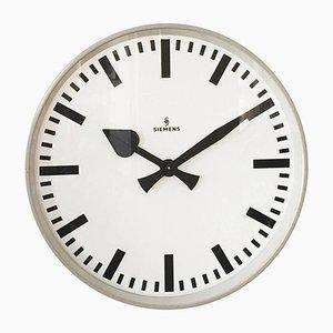 Reloj Mid-Century de Siemens, años 50