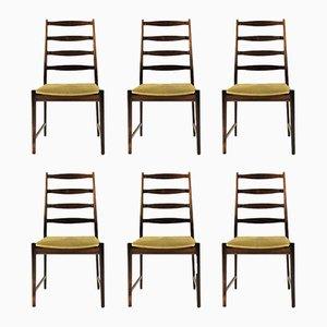 Modell 113 Palisander Esszimmerstühle von Torbjørn Afdal für Vamo Sonderborg, 1960er, 6er Set