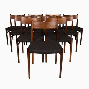 Chaises de Salon en Palissandre par Arne Vodder pour Sibast, 1960s, Set de 10