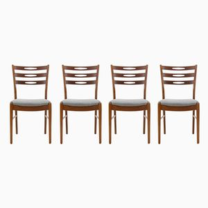 Dänische Teak Stühle, 1960er, 4er Set