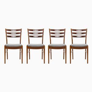 Danish Teak Chairs, 1960s, Set of 4