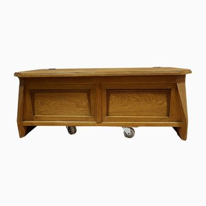 Art Nouveau Light Oak Chest