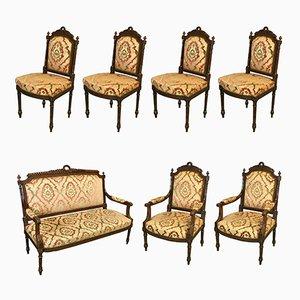 Mobilier de Salon Style Louis XVI Vintage