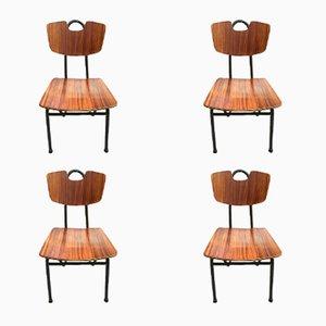 Prefacto Stühle von Pierre Guariche für Airborne, 1951, 4er Set