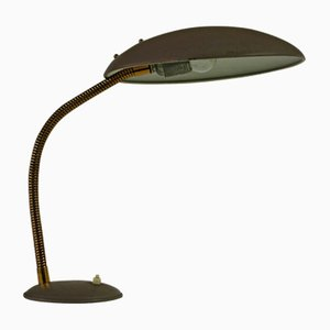 Lámpara de mesa Bauhaus en gris de Philips, años 60