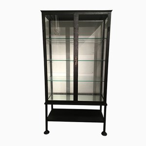 Antique Iron & Glass Display Cabinet