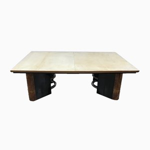 Italian Art Deco Parchment Coffee Table, 1930s