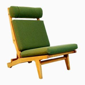 Danish AP71 Folding Lounge Chair & Footstool by Hans J. Wegner for AP Stolen, 1960s