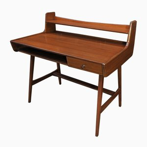 Mahogany Desk by Jacques Hauville for Bema, 1960s