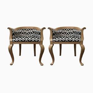 Antike Armlehnstühle, 1800er, 2er Set