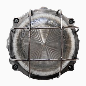 Vintage Outdoor Wall Sconce with Grid