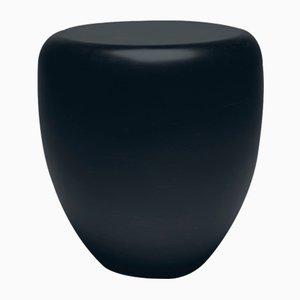 Mesa auxiliar o taburete Dot en negro y marrón de Reda Amalou