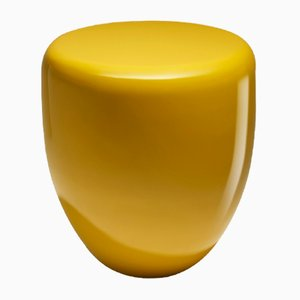 Dot Side Table or Stool in Warm Saffron by Reda Amalou