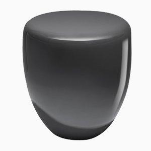 Mesa auxiliar o taburete Dot en gris pizarra de Reda Amalou