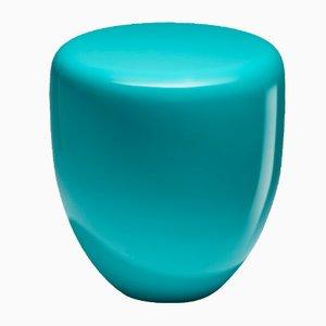 Mesa auxiliar o taburete Dot en azul bohemio de Reda Amalou