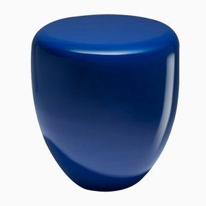 Table d'Appoint ou Tabouret en Bleu Moyen Orient par Reda Amalou
