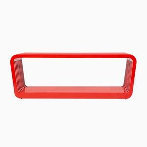 Mesa de centro o banco Link grande en rojo de Reda Amalou