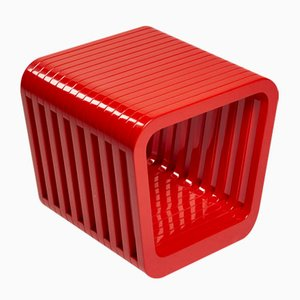 Mesa de centro o taburete Link en rojo de Reda Amalou