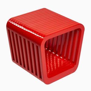 Panca o tavolino da caffè Link rosso iconico di Reda Amalou