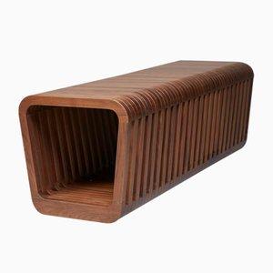 Panca o tavolino da caffè lungo Link in legno di noce di Reda Amalou
