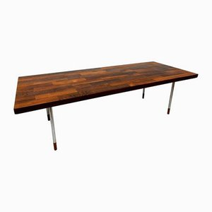 Mid-Century Scandinavian Rosewood and Chrome Coffee Table, 1960s