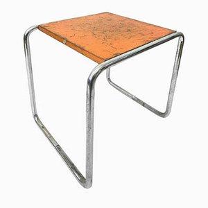 Vintage Bauhaus Orange B9 Tisch von Marcel Breuer für Thonet, 1930er
