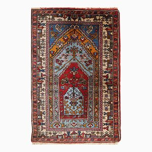 Vintage Handmade Turkish Konya Prayer Rug, 1950s