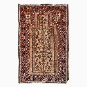 Antique Handmade Afghan Baluch Prayer Rug, 1900s