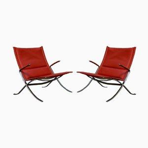 FK82 oder X Stühle von Preben Fabricius & Jørgen Kastholm für Kill International, 1960er, 2er Set