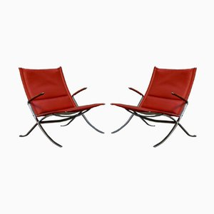 FK82 or X Chairs by Preben Fabricius & Jørgen Kastholm for Kill International, 1960s, Set of 2