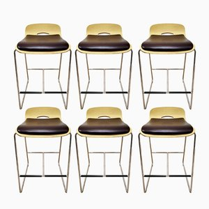 Danish Stools, 1970s, Set of 6