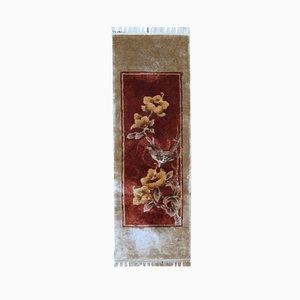 Alfombra china Art Déco vintage hecha a mano, años 70