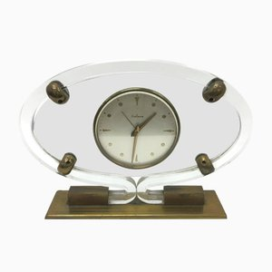 Mid-Century Modern Plexiglass Table Clock from Italora