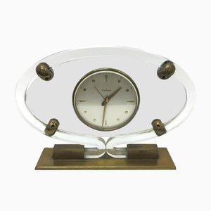 Reloj de repisa Mid Century moderno de plexiglás de Italora