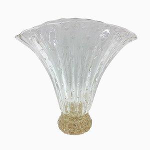Jarrón de cristal de Murano de Barovier e Toso, años 80