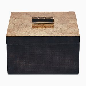 Decorative Box in Brown Eggshell by Reda Amalou