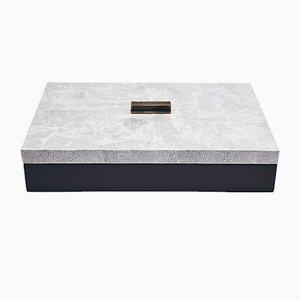 Caja decorativa pequeña en blanco crema de Reda Amalou