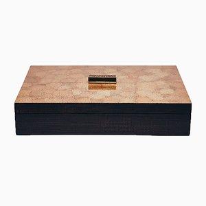 Caja decorativa pequeña en marrón crema de Reda Amalou