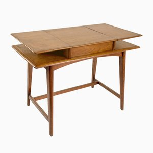 Französischer Mid-Century Schreibtisch mit Klappfach, 1950er