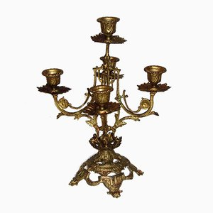 Gilded Candlestick Holder, 1900s