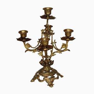 Vergoldeter Kerzenständer, 1900er