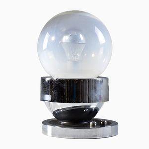Sphärische Mid-Century Lampe aus Chrom