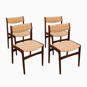 Esszimmerstühle aus Palisander von Erik Buch 1960er, 4er Set
